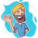 Flirting Punjabi Man Icon