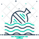 Float Ocean Garbage Icon