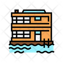 Floating Water Residence Icon