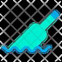 Floating Bottle Icon