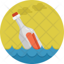 Floating bottle Icon
