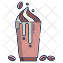 Floating Coffee With Beans Icon