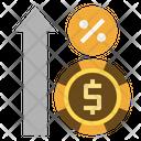 Floating Interest Finance Banking Icon