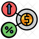 Floating Interest Interest Rate Bank Interest Icon