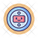 Floating Robot Head Icon