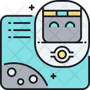 Floating Robot Head Artificial Intelligence Floating Icon