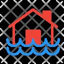 Flood Disaster House Icon