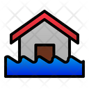 Flood Disaster Home Icon