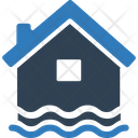 Disaster Flood Home Icon
