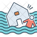 Flood Hurricane Earthquake Water Damage Natural Disaster Icon