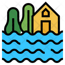 Flood Climate Change Inundation Icon