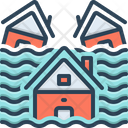 Influx Inundation Freshet Icon