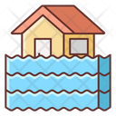 Flood Catastrophe Disaster Icon