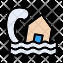 Flood House Disaster Icon
