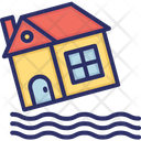 Flood Water House Icon