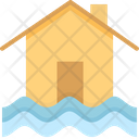 Flood Disaster House Icon