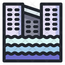 Flood Rain House Icon