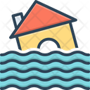 Flood Natural Disaster Water Damage Icon