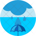 Flood Rain Sea Icon