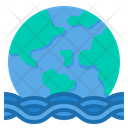 Flood Natural Disaster Sea Level Icon