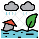 Flood Overflow Inundation Icon