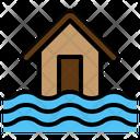 Flood Disaster Nature Inundation Typhoon Icon