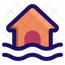 Flood Home Disaster Icon