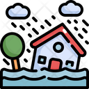Flood House Flooded Icon