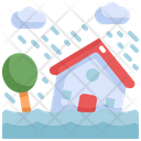 Flood House Natural Disaster Icon