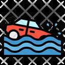 Flood Car Accident Icon