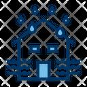 Flood House Flood Insurance Icon