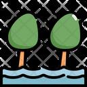 Flood Tree Flooded Icon