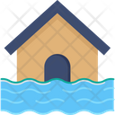 Flooded House Flood Water Icon