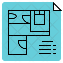 Floor Plan Architecture Icon