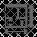 Floor Plan Blueprint Construction Icon