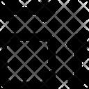 Area Floor Plan Dimensions Icon