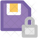 Floppy Disk Lock Icon