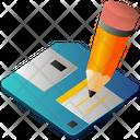 Floppy Disk Pencil Icon