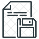 Floppy Disk Page Storage Icon