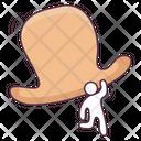 Top Hat Floppy Hat Hunting Headgear Icon