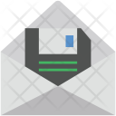 Floppy Envelop Data Icon