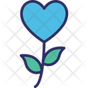 Floral Heart Flower Love Icon