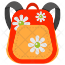 Floral Backpack Icon