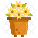 Floral Design Flower Pot Flower Icon