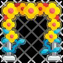 Floral Design Backdrop Flower Icon