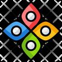 Floral Symbol Symbol Sign Icon