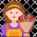 Florist Professions Woman Woman Icon