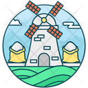 Flour Mill Grain Mill Windmill Icon