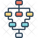 Flow Chart Hierarchy Work Icon