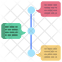 Flow Chart Timeline Chart Diagram Icon